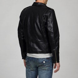 Amerileather Men's Black Leather Biker Jacket