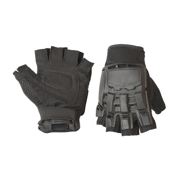 ALEKO Extra Large Paintball Airsoft Half Finger Gloves Black 37835171