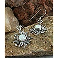 Indian Handcrafted White Opal Earrings (Set of 2)