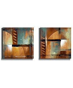 Summer Soiree by Loreth Stretched Canvas Art Set I