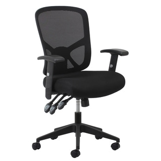 Carbon Loft Braille 3-paddle Ergonomic High-back Black Mesh Task Chair with Arms and Lumbar Support