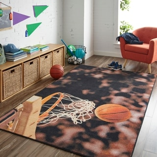 Mohawk Home Prismatic Basketball Hoop Area Rug - 5' x 8'