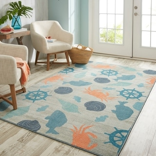 Mohawk Home Prismatic Coastal Otomi Area Rug - 5' x 8'