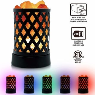 Himalayan Glow Lattice Multicolor Salt Lamp, 2 lbs