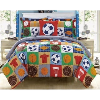 Chic Home Leon 8 Piece Reversible Athletic Youth Comforter Set