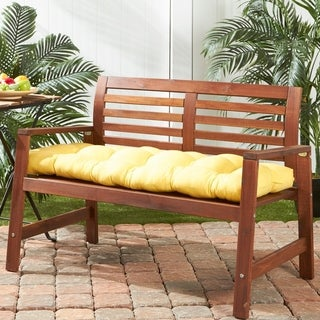 Driftwood 51-inch Outdoor Yellow Bench Cushion by Havenside Home - 18w x 51l