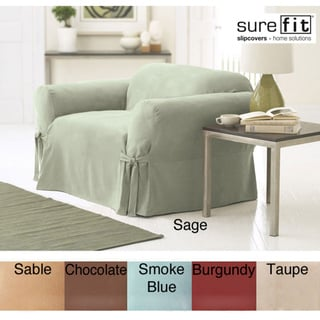 Sure Fit Smooth Suede Washable Chair Slipcover