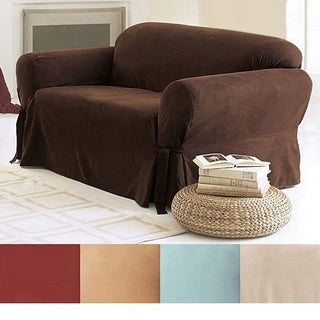 Sure Fit Smooth Suede Washable Sofa Slipcover