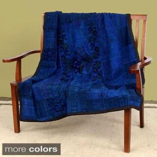 Embroidered Handmade Throw Blanket (Guatemala)