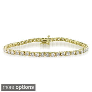 Miadora Signature Collection 14k Gold 4ct TDW Diamond Tennis Bracelet (G-H, I1-I2)
