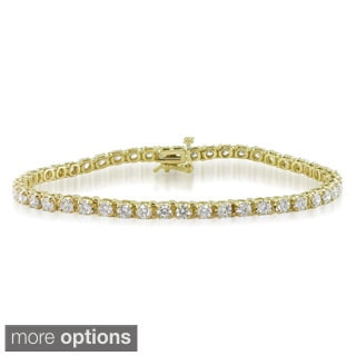 Miadora 14k Gold 4ct TDW Diamond Tennis Bracelet (G-H, I1-I2)