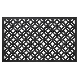 Wrought Iron Rubber Mat 18x30 - Diamond