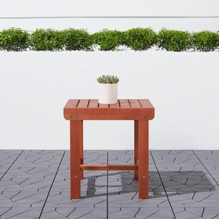 Surfside Outdoor Patio Wood Side Table by Havenside Home