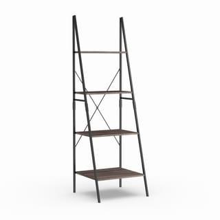 Carbon Loft Willis 72-inch Urban Walnut Ladder Bookcase