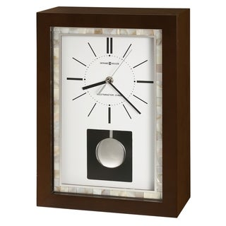 Howard Miller Holden Contemporary, Transitional, Sleek Chiming Mantel Clock with Pearl Accents, Reloj del Estante