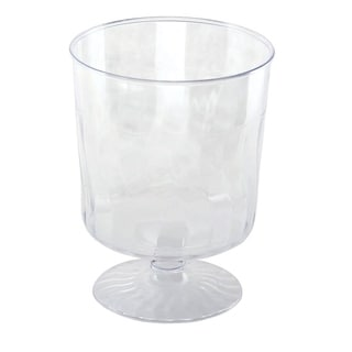 Disposable Plastic Clear 8oz Wine Glasses Crystal-Like Design - For Party's and Weddings