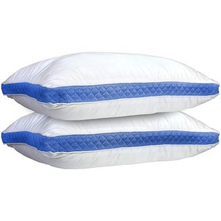 Porch & Den Quilted Gusseted Pillow For Bed Best In Quality With Extra Comfort (Set of 2)