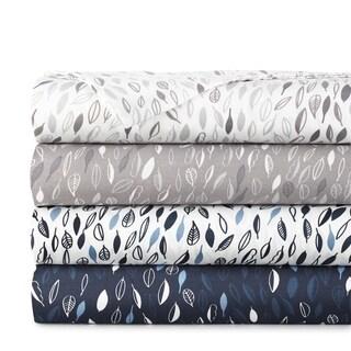 Vilano Choice Ultra-Soft Premium Botanical 4-piece Printed Bed Sheet Set