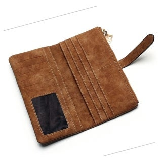 Faux Suede Womens Wallet