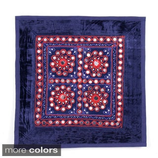 Handcrafted Mirrored Cushion Cover (India)