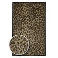 Hand-tufted Brown Leopard Animal Print Safari Wool Rug (5' x 8')