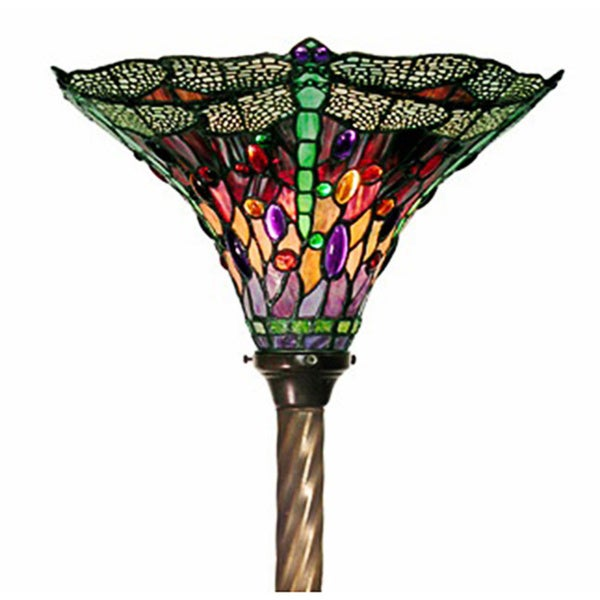 amora lighting tiffany style jewel 72 inch floor torchiere lamp. Black Bedroom Furniture Sets. Home Design Ideas