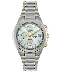Seiko Men's Silver Dial Two-tone Chronograph Watch