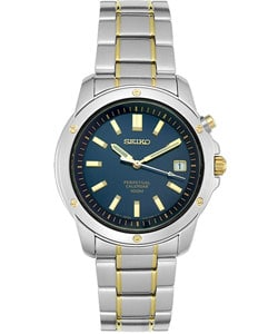 Seiko Men's SNQ010 Two-tone Stainless Steel Perpetual Calendar Watch