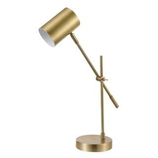 Silver Orchid Morino 20-inch Matte Brass Desk Lamp