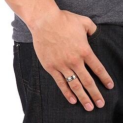 Men's Titanium Brushed Domed Band (7 mm)