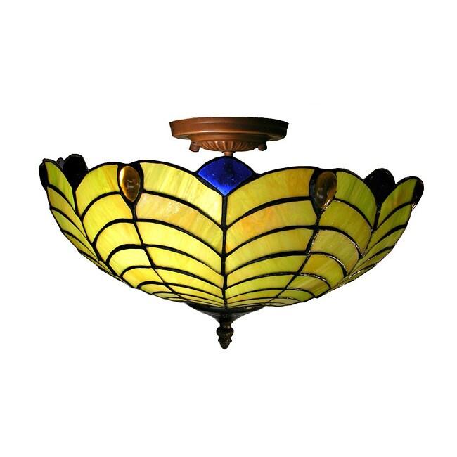 Tiffany-style Shell Hanging Light