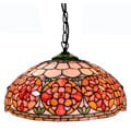 Tiffany-style Orange Hanging Light