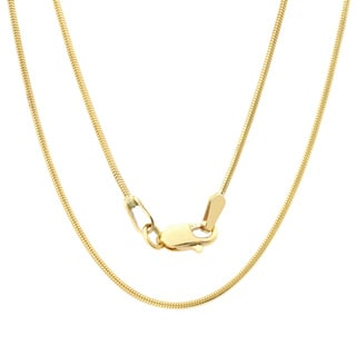Roberto Martinez 14k Yellow Gold Snake Chain Necklace (1mm) (16-24 inches)