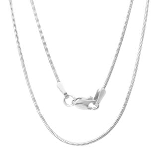 Sterling Essentials 14k White Gold Snake Chain Necklace