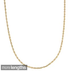 Roberto Martinez 14k Yellow Gold 1.5mm Rope Chain (16-30 inches)
