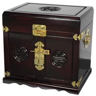 Handmade Merbu Wood 5-drawer Jewelry Box (China)