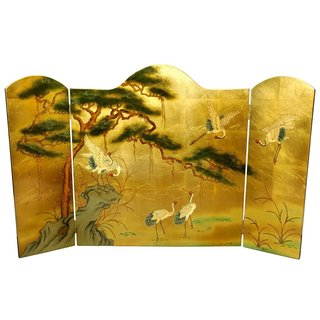 Handmade Lacquer Fireplace Screen (China)