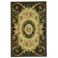 Hand-hooked Fruit Harvest Black Wool Rug (5'3 x 8'3)