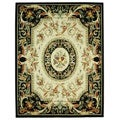 Safavieh Hand-hooked Fruit Harvest Black Wool Rug (7'9 x 9'9)
