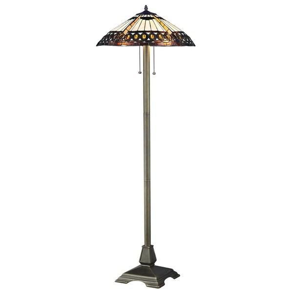 amberjack tiffany floor lamp 10543317 shopping. Black Bedroom Furniture Sets. Home Design Ideas