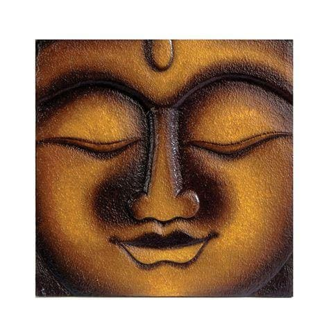 Hand-carved Buddha Wall Plaque (Indonesia)