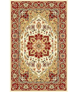 "Safavieh Lyndhurst Collection Oriental-Pattern Ivory/Red Rug (5'3"" x 7'6"")"