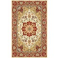 Lyndhurst Collection Oriental-Pattern Ivory/Red Rug (5'3