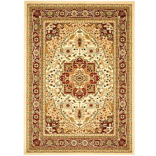 Safavieh Lyndhurst Collection Ivory/Red Traditional Rug (8' x 11')