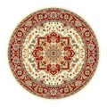 Safavieh Lyndhurst Collection Ivory/ Red Area Rug (5'3 Round)
