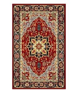 Lyndhurst Collection Oriental Red/ Black Rug (3'3 x 5'3)