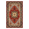 Lyndhurst Collection Oriental Red/ Black Rug (3'3 x 5'3)