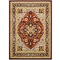 Lyndhurst Collection Red/ Black Medallion Motif Rug (8' x 11')