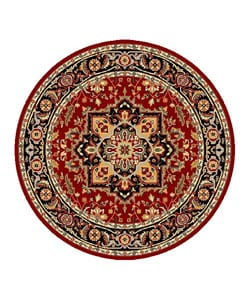 Safavieh Lyndhurst Collection Red/Black Area Rug (5' 3 Round)
