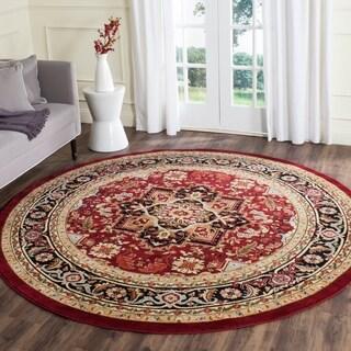 Safavieh Lyndhurst Collection Traditional Red/Black Rug (8' Round)